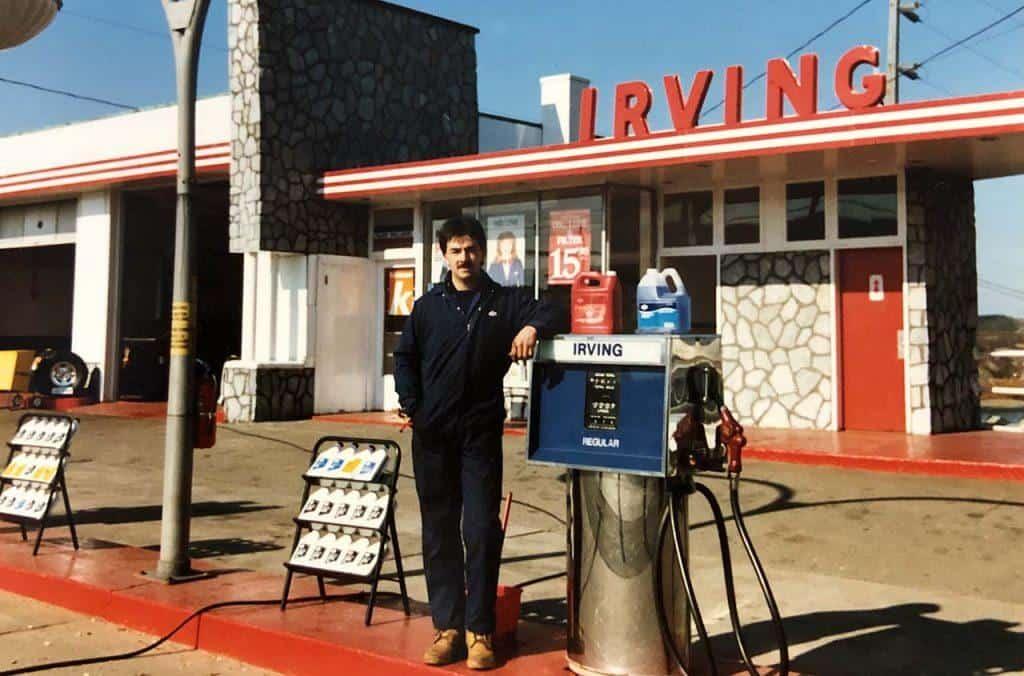 Al's Primrose Irving service station, 1986